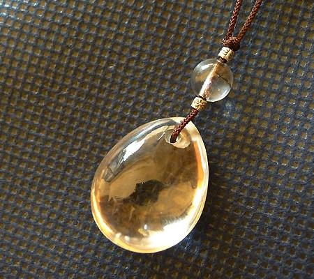 ヒマラヤ水晶ひも付きチョーカー005-5