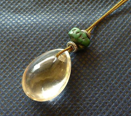 ヒマラヤ水晶ひも付きチョーカー012-3