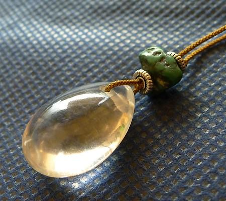 ヒマラヤ水晶ひも付きチョーカー012-4