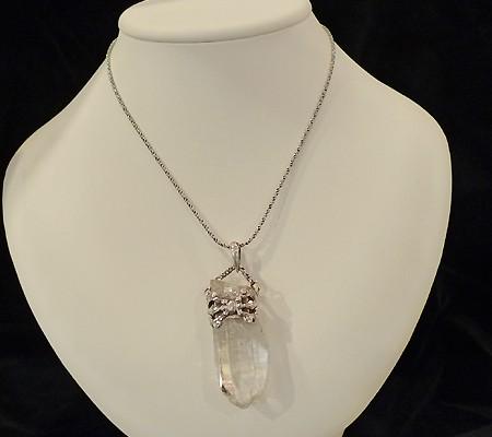 ヒマラヤ水晶ペンダントミラー水晶008-12