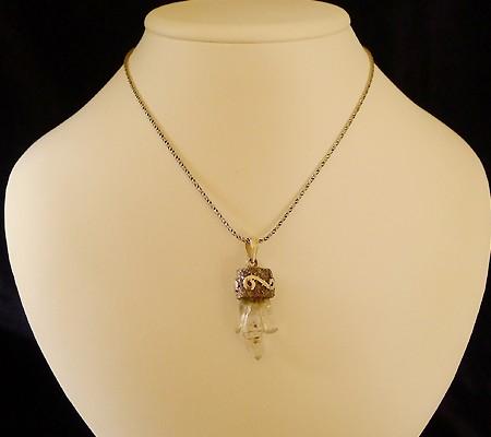 ヒマラヤ水晶ペンダント特殊形状009-10