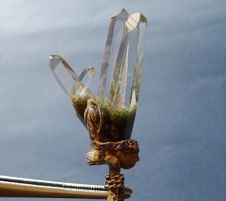 ヒマラヤ水晶ペンダント特殊形状014-4