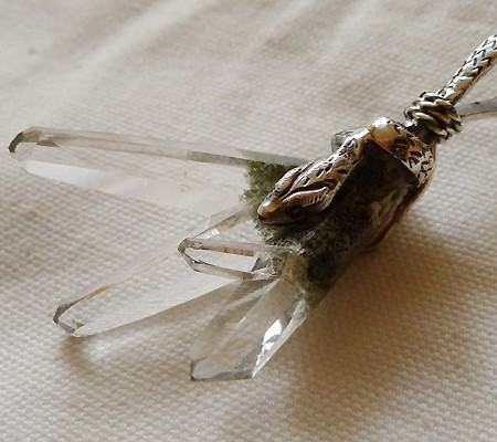 ヒマラヤ水晶ペンダント特殊形状014-8