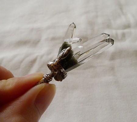 ヒマラヤ水晶ペンダント特殊形状014-9