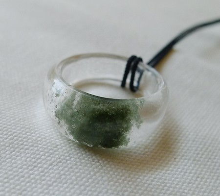 ヒマラヤ水晶くり貫きリング017-4