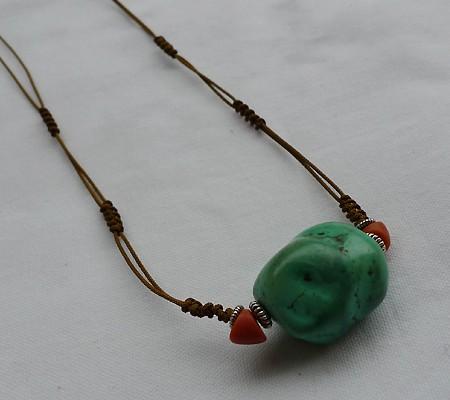 チベットトルコ石チョーカータイプ001-4