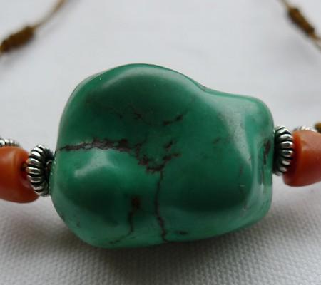 チベットトルコ石チョーカータイプ001-6