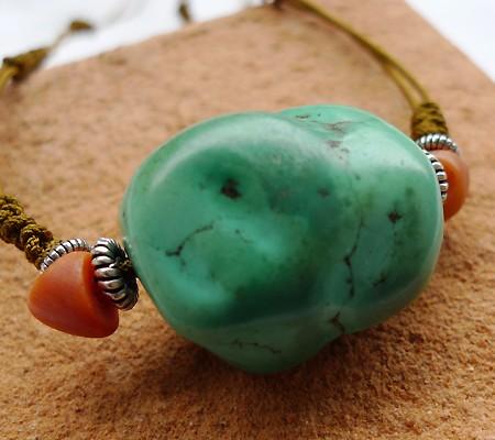 チベットトルコ石チョーカータイプ001-8