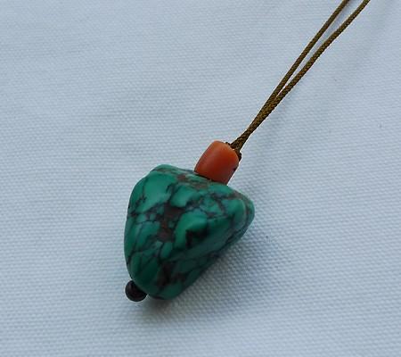 チベットトルコ石チョーカータイプ003-3