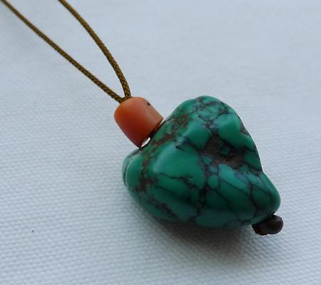 チベットトルコ石チョーカータイプ003-4
