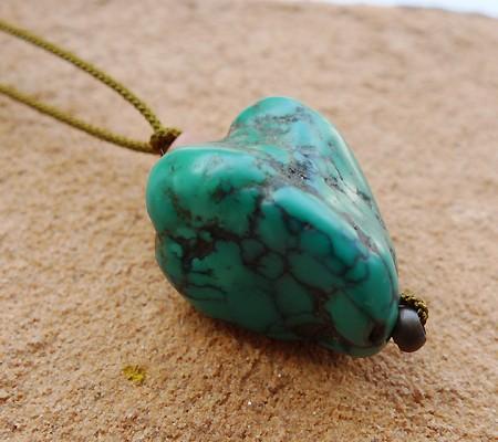 チベットトルコ石チョーカータイプ003-6