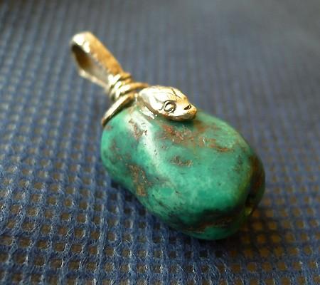 チベットアンティークトルコ石ペンダント006-5
