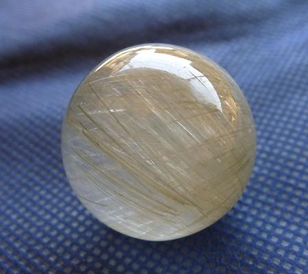 ヒマラヤ水晶丸玉内包物入り011-3