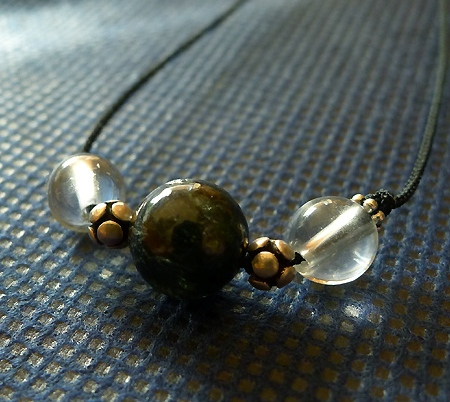ヒマラヤ水晶丸玉デザインチョーカー012-2