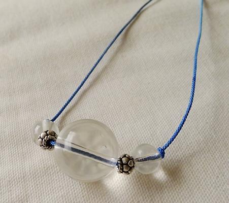ヒマラヤ水晶丸玉デザインチョーカー014-3