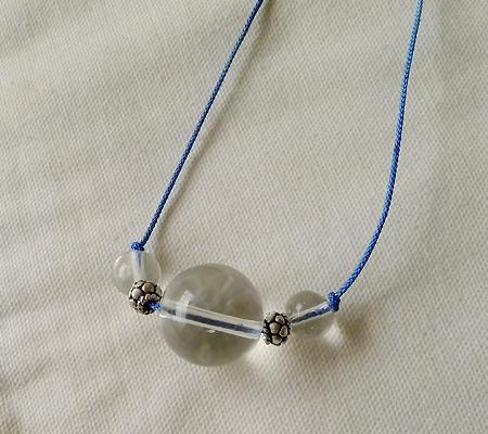 ヒマラヤ水晶丸玉デザインチョーカー014-4
