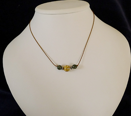ヒマラヤ水晶丸玉デザインチョーカー016-6