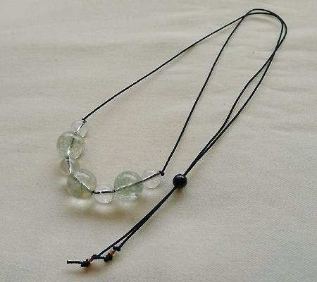 ヒマラヤ水晶丸玉デザインチョーカー019-8