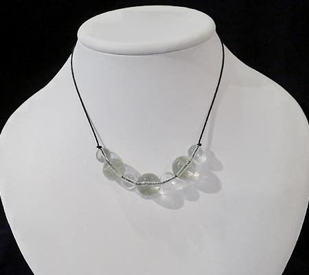 ヒマラヤ水晶丸玉デザインチョーカー019-9
