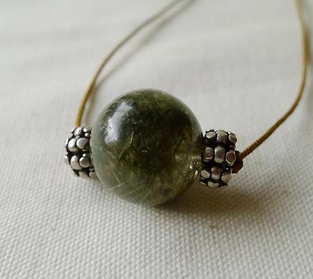 ヒマラヤ水晶丸玉デザインチョーカー021-6