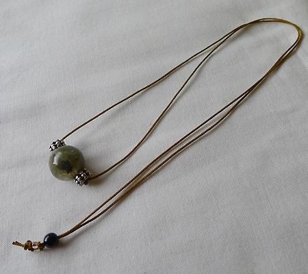 ヒマラヤ水晶丸玉デザインチョーカー021-8