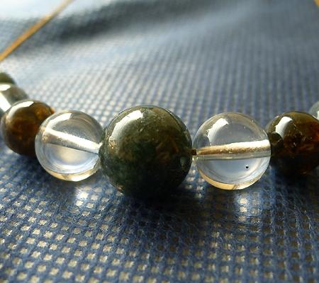 ヒマラヤ水晶丸玉デザインチョーカー025-2