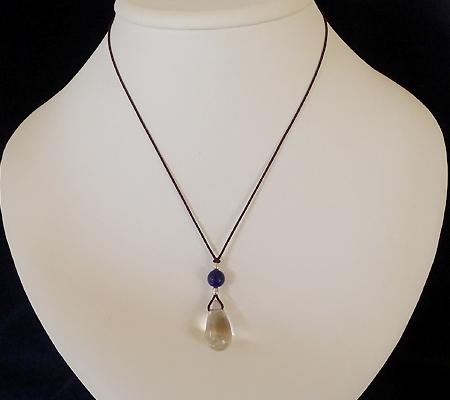 ヒマラヤ水晶紐付きチョーカー013-7