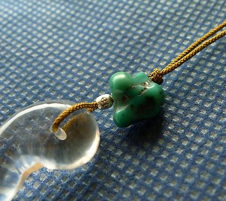 ヒマラヤ水晶紐付きチョーカー015-3