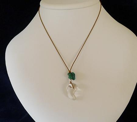 ヒマラヤ水晶紐付きチョーカー015-8