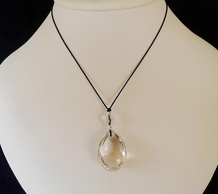 ヒマラヤ水晶紐付きチョーカー016-8