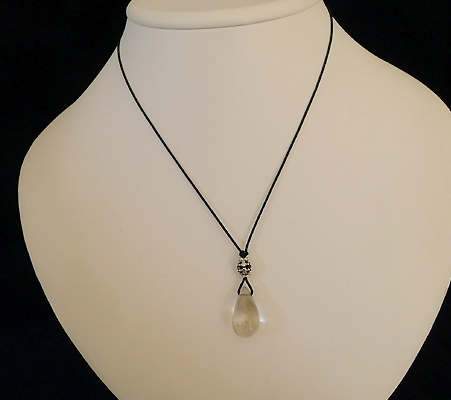 ヒマラヤ水晶紐付きチョーカー017-7