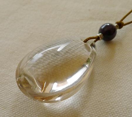 ヒマラヤ水晶紐付きチョーカー018-6