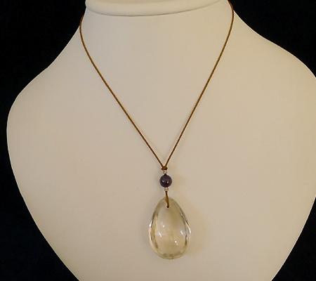 ヒマラヤ水晶紐付きチョーカー018-9