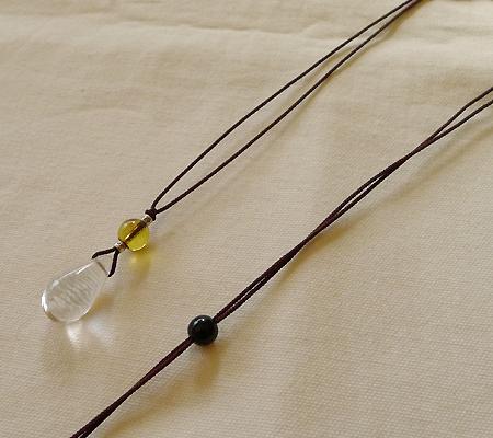 ヒマラヤ水晶紐付きチョーカー019-6