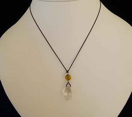 ヒマラヤ水晶紐付きチョーカー019-7