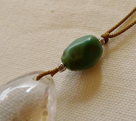ヒマラヤ水晶紐付きチョーカー020-6