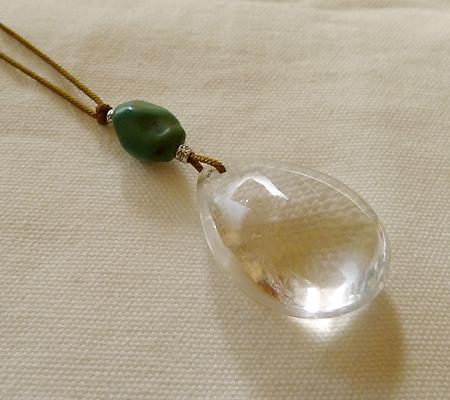 ヒマラヤ水晶紐付きチョーカー020-7