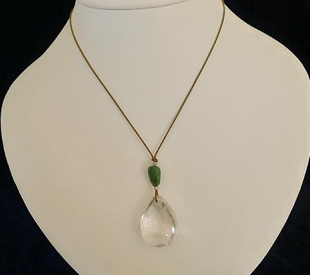 ヒマラヤ水晶紐付きチョーカー020-9