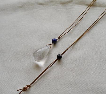 ヒマラヤ水晶紐付きチョーカー021-6