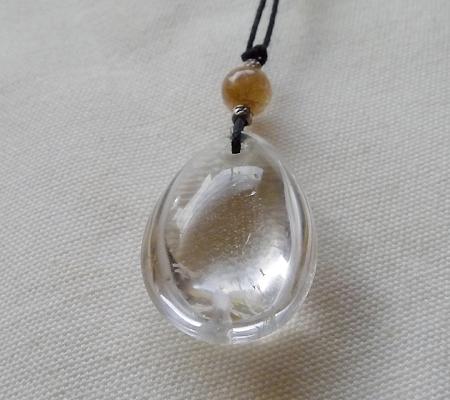 ヒマラヤ水晶紐付きチョーカー022-7