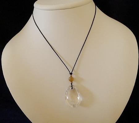 ヒマラヤ水晶紐付きチョーカー022-9