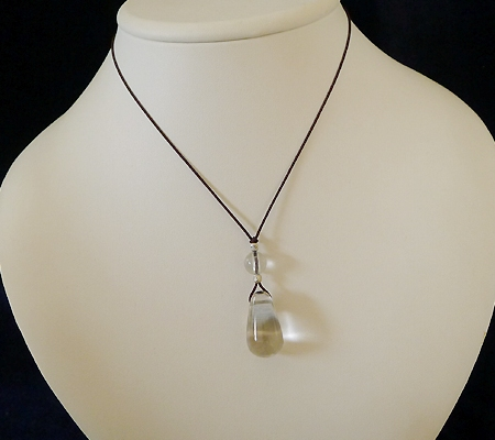 ヒマラヤ水晶紐付きチョーカー023-9
