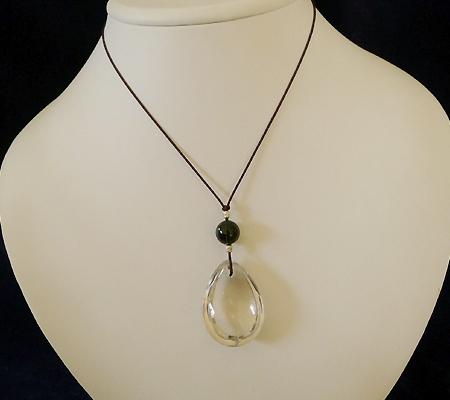ヒマラヤ水晶紐付きチョーカー024-10