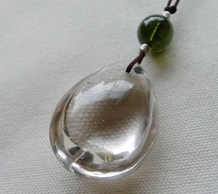 ヒマラヤ水晶紐付きチョーカー024-7