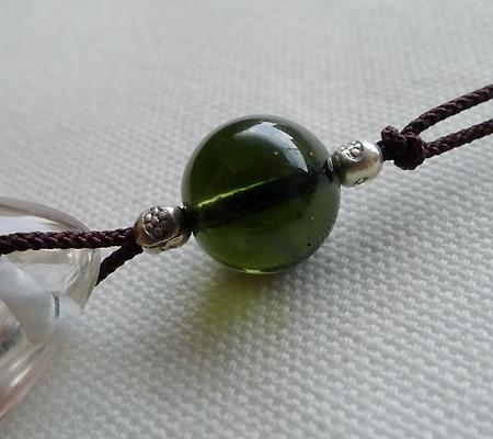 ヒマラヤ水晶紐付きチョーカー024-8