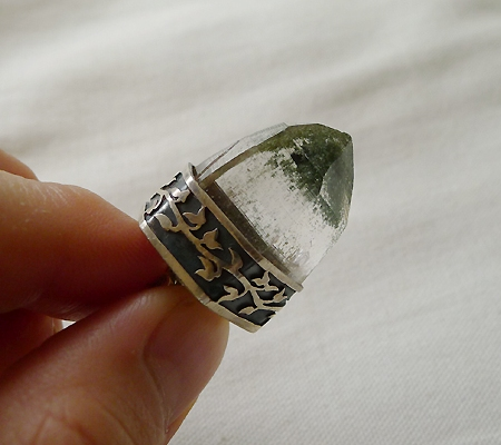 ヒマラヤ水晶ペンダント緑泥石入り034-10