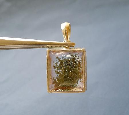 ヒマラヤ水晶ペンダント緑泥石入り035-3