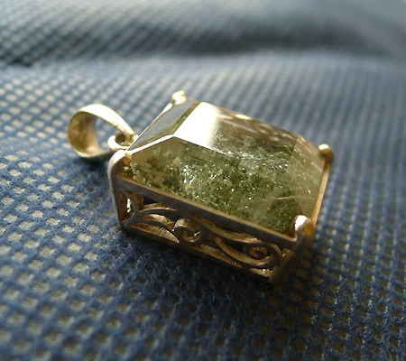 ヒマラヤ水晶ペンダント緑泥石入り035-7