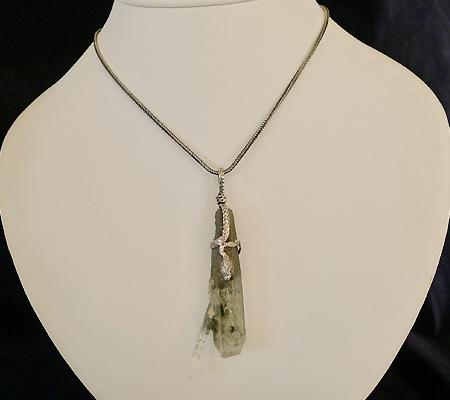 ヒマラヤ水晶ペンダント特殊形状020-11