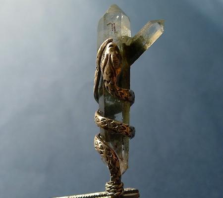 ヒマラヤ水晶ペンダント特殊形状025-3